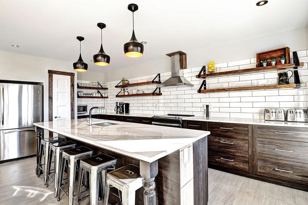 Cuisine design 42 Chemin Blanc, Stoneham, Leblanc Construction