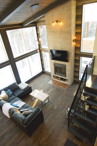 Maison modèle Lac-Beauport - salon